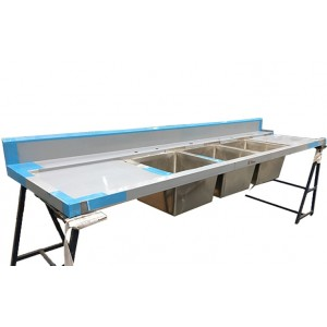 Simply Stainless Triple Bowl Dishwasher Bench